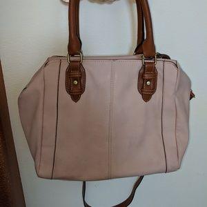 Blush colored handbag